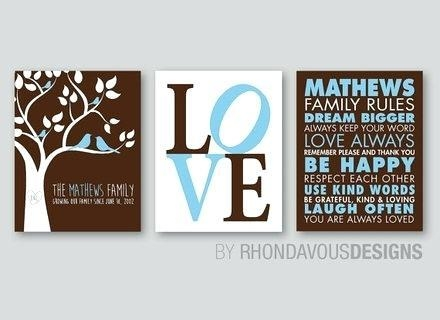 Love Rules Wall Art Wallets A Love This Black White Family Rules Intended For Canvas Wall Art Family Rules (Image 12 of 20)