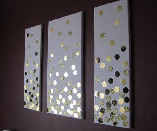 Love The Simple Circles But Would Have The 3 Colours I Am Using In Homemade Canvas Wall Art (Image 19 of 20)