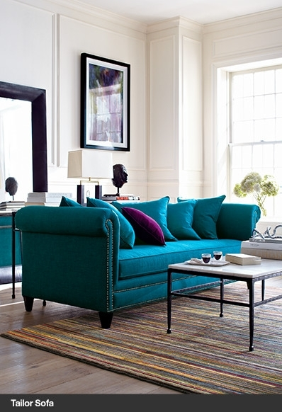Love The Turquoise Sofa! | Ideas For Office | Pinterest | Turquoise For Turquoise Sofas (Image 3 of 10)