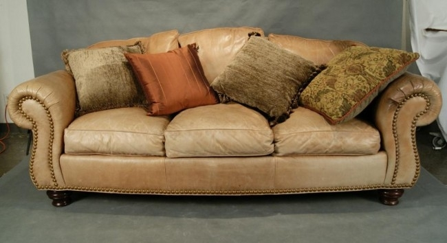 Lovely Light Tan Leather Sofa 78 In Modern Sofa Inspiration With Regarding Light Tan Leather Sofas (Image 6 of 10)