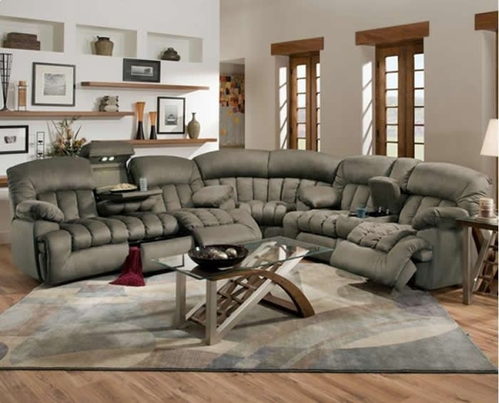 Lovely Reclining Sectional Couches 54 Contemporary Sofa Inspiration Regarding Reclining Sectional Sofas (Image 3 of 10)