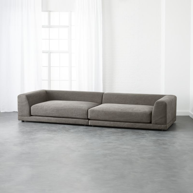 Low Back Sofas | Cb2 Inside Low Sofas (Image 2 of 10)