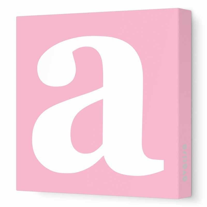 Lower Case Letter Canvas Wall Artavalisa – Rosenberryrooms Within Letters Canvas Wall Art (Image 15 of 20)