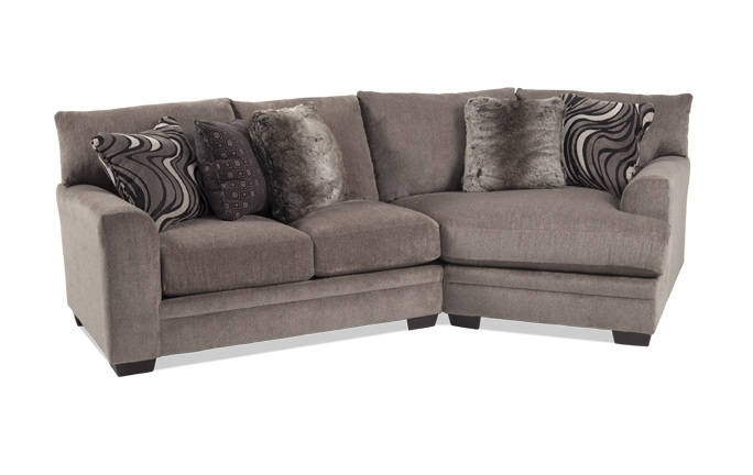 Luxe 4 Piece Sectional With Cuddler Chaise | Bob's Discount Furniture Regarding Sectional Sofas With Cuddler Chaise (View 9 of 10)