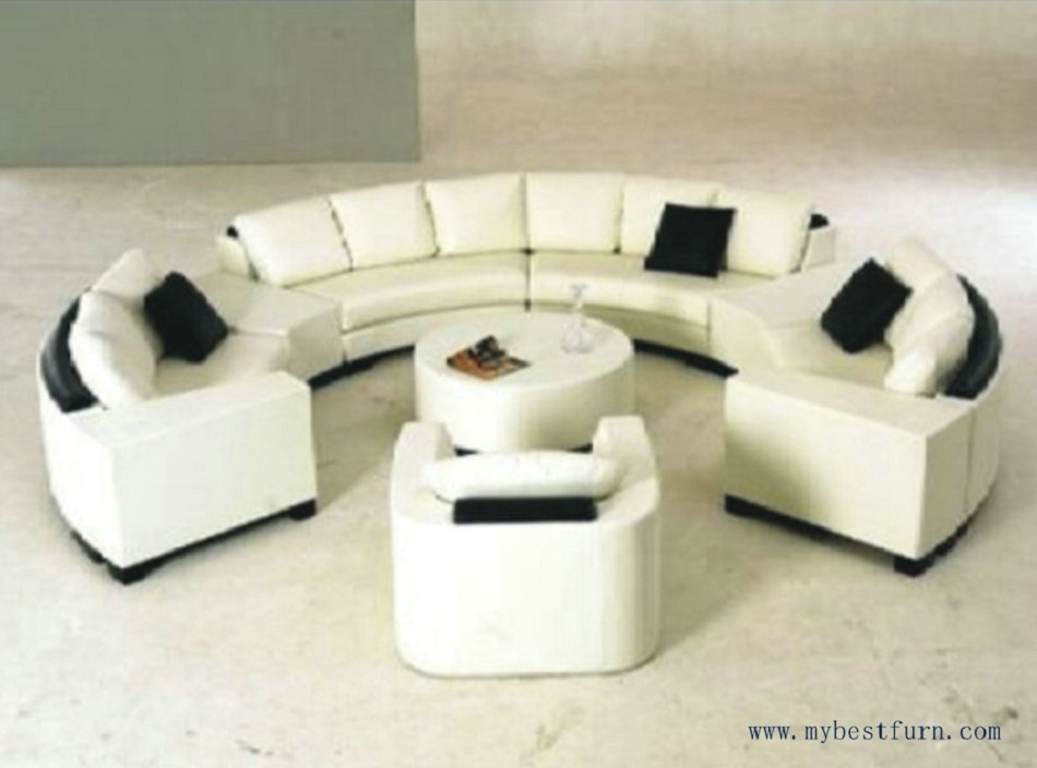 Luxury Sofa Extra Large Settee Nice Real Leather Sofas Round Shaped With C Shaped Sofas (Image 5 of 10)