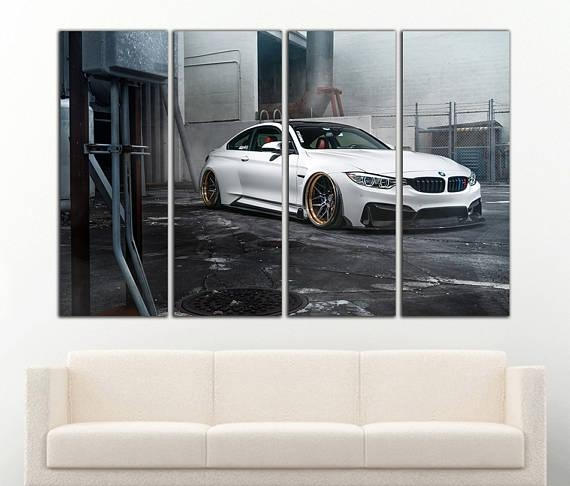M4 Bmw Canvas Bmw M4 Print Bmw M4 Wall Art M4 Wall Decor Throughout Bmw Canvas Wall Art (View 5 of 20)