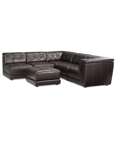 Macys Leather Sectional Sofa Sofas Intended For Macys Leather For Macys Leather Sectional Sofas (Image 4 of 10)