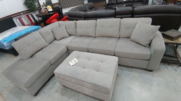 Madill Grey Sectional With Ottoman (Furniture) In Killeen, Tx – Offerup Inside Killeen Tx Sectional Sofas (Image 9 of 10)