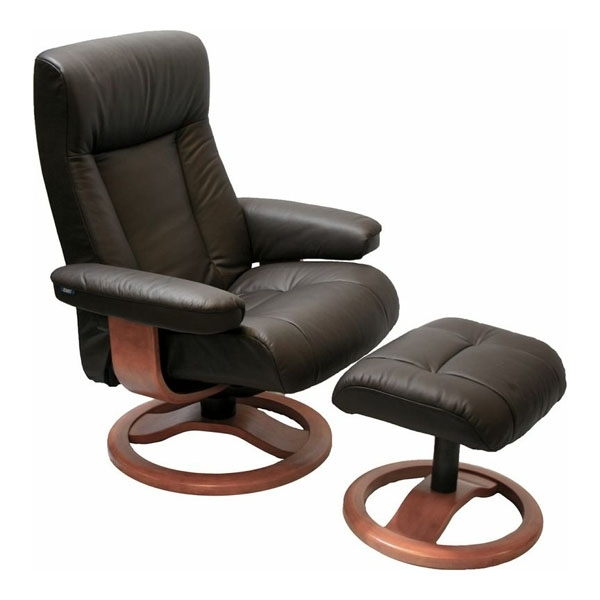 Magnificent Chairs With Ottoman Scansit 110 Ergonomic Leather In Chairs With Ottoman (View 4 of 10)