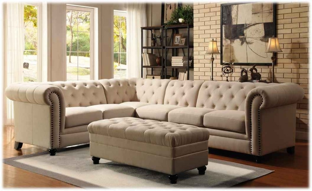 Make An Elegant Traditional Look With Tufted Sectional Sofa Tufted With Regard To Tufted Sectional Sofas With Chaise (View 3 of 10)