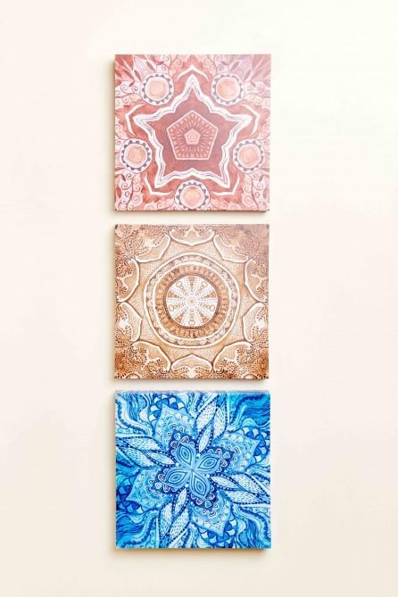 Mandalas Canvas Art Set Of 3 – Earthbound Trading Co (View 16 of 20)