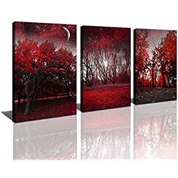 Manificent Decoration Tree Canvas Wall Art Parade Of Red Trees In Jcpenney Canvas Wall Art (Image 14 of 20)
