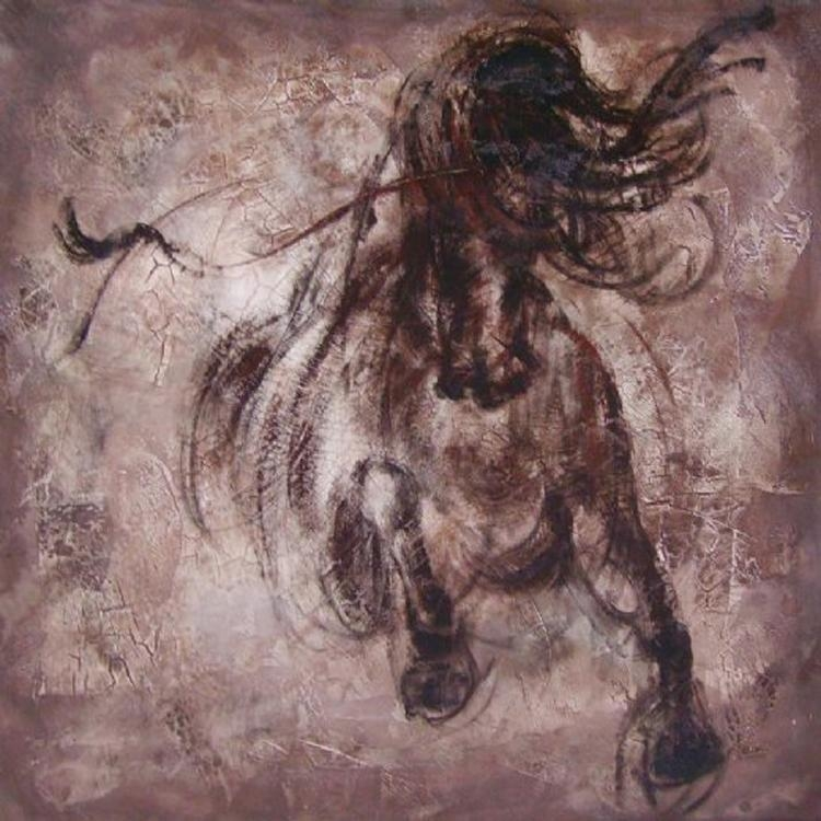 Manufacturer Wholesale High Quality Abstract Animal Oil Painting Intended For Abstract Horse Wall Art (Image 12 of 20)