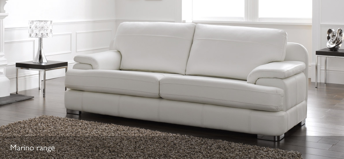 Marino Modern Leather Sofa | 4 Seater | Sofasofa | Sofasofa Within 4 Seat Leather Sofas (Image 9 of 10)