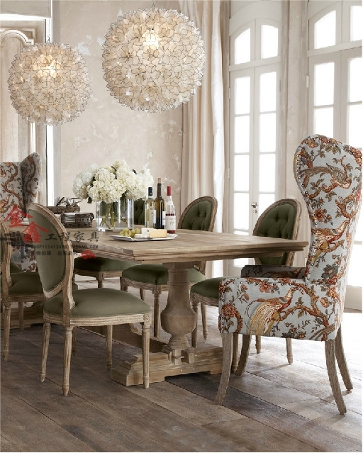 Markor Dining Table Rustic Wood Dining Tables And Chairs Idyllic Intended For Dining Sofa Chairs (Image 8 of 10)