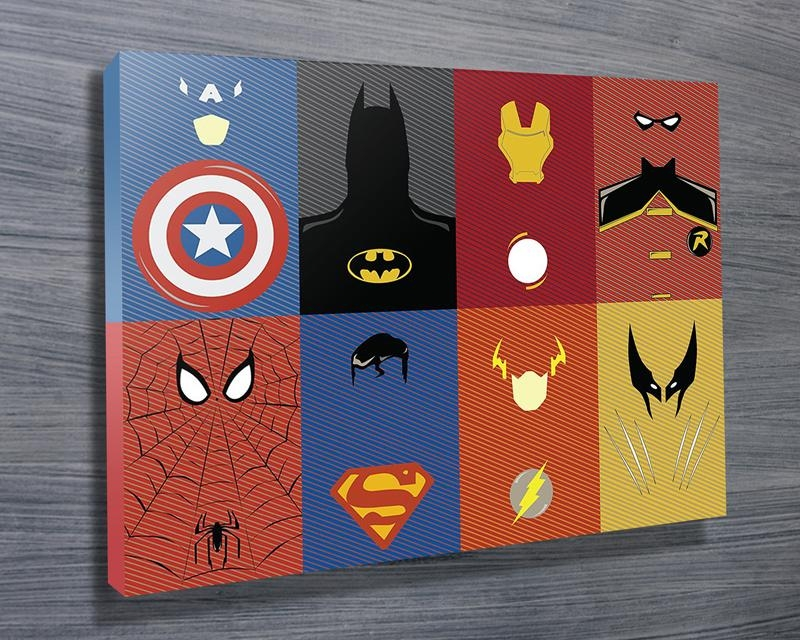 Marvel Characters Wall Art On Canvas Brisbane Intended For Marvel Canvas Wall Art (Image 11 of 20)
