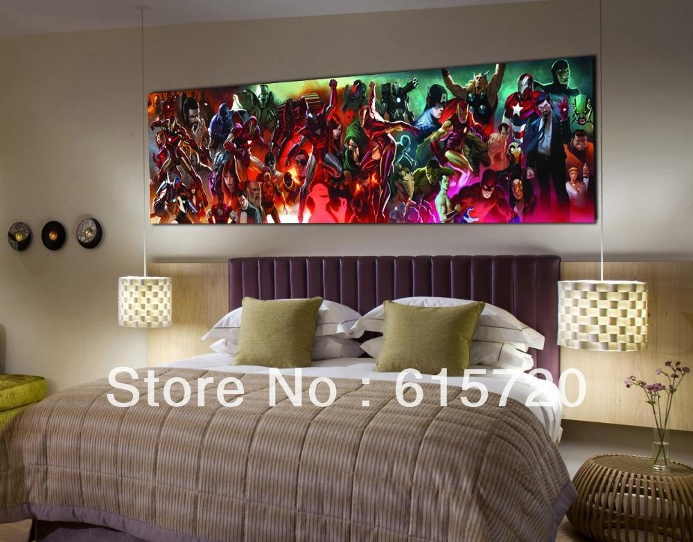 Marvel Comics New Avengers Iron Man 3 Fine Art Prints Giclee On Intended For Marvel Canvas Wall Art (Image 14 of 20)