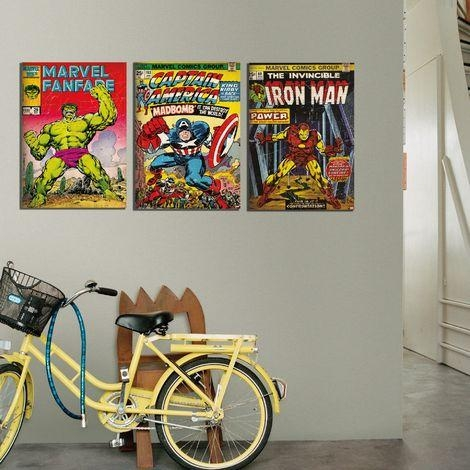 Marvel Vintage Retro Hulk Printed Canvas Wall Art Was £  (Image 16 of 20)