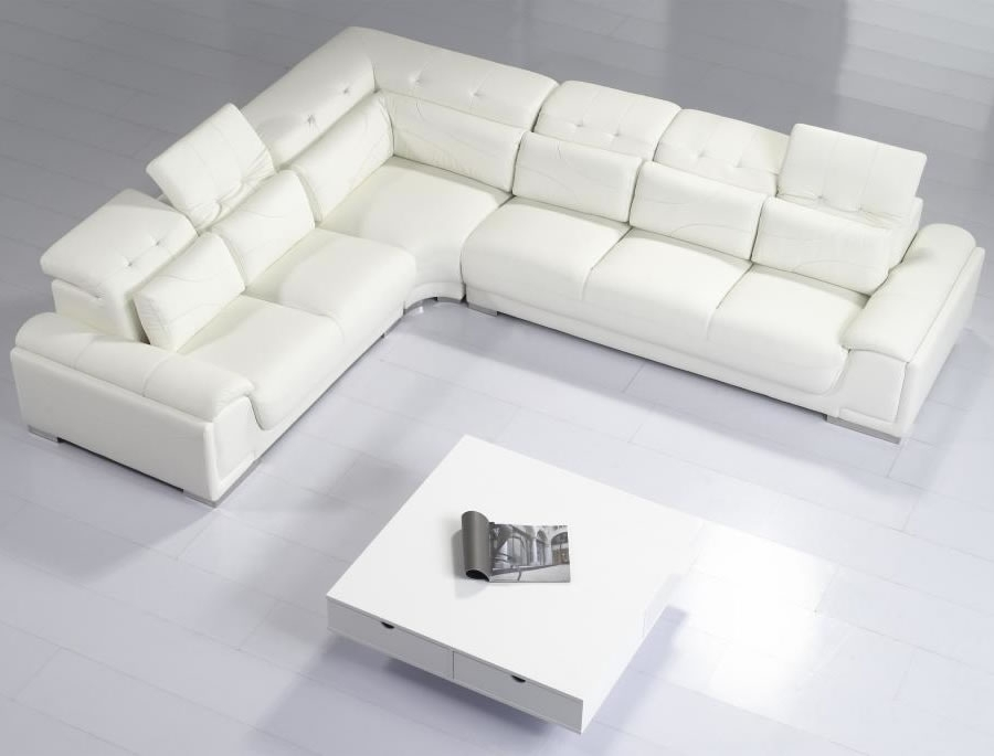 Marvelous Modern Sofa Sectional | Home Furniture Throughout White Modern Sofas (Image 3 of 10)