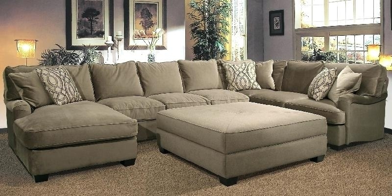 Marvelous Sectional Sofa With Oversized Ottoman U Shaped Sectional Inside Sectionals With Oversized Ottoman (Image 5 of 10)