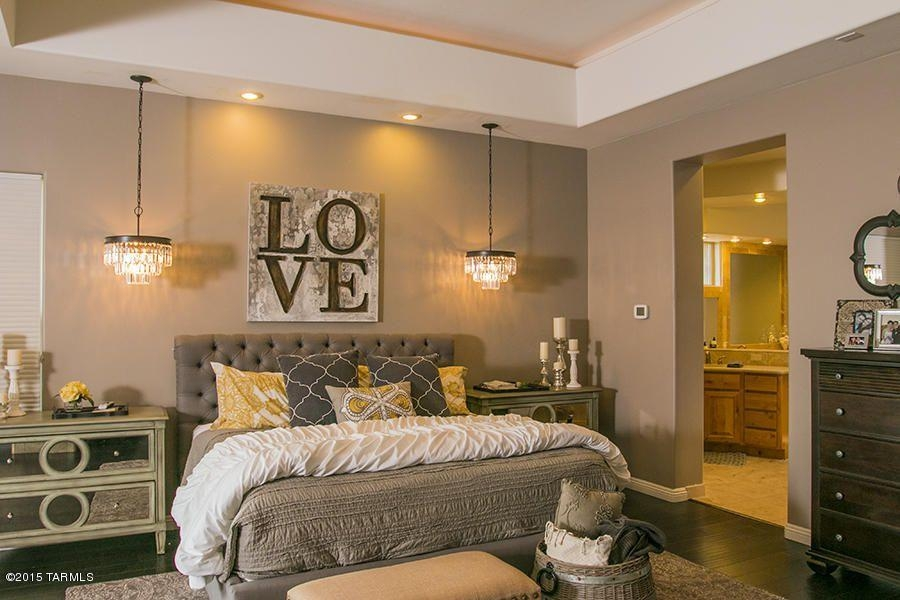 Master Bedroom With Carpet & Pendant Light In Oro Valley, Az Within Masters Canvas Wall Art (View 17 of 20)