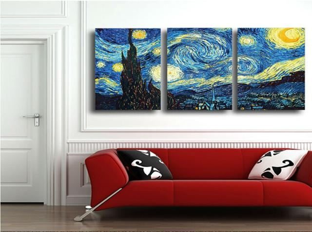 Masters Starry Night Vincent Van Gogh Prints Reputation Oil With Regard To Masters Canvas Wall Art (View 6 of 20)