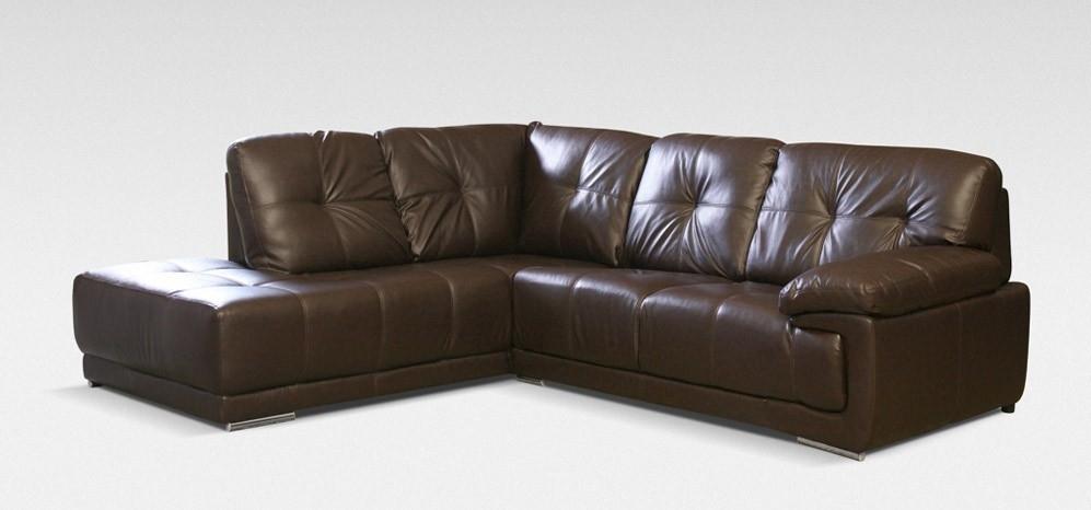 Maxim Corner Lhf Brown – Leather Corner Sofas – Sofas Inside Leather Corner Sofas (Image 7 of 10)