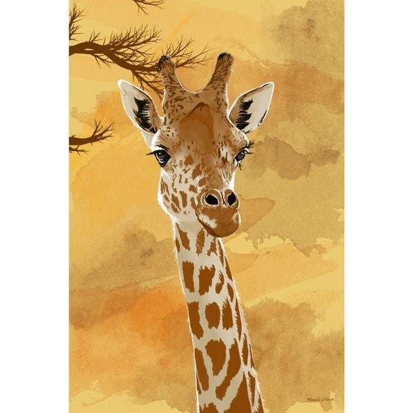 Maxwell Dickson 'giraffe' Canvas Wall Art – Free Shipping Today Intended For Giraffe Canvas Wall Art (Image 13 of 20)