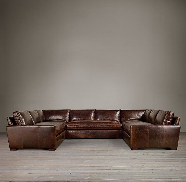 Maxwell Leather U Sofa Sectional | For The Home | Pinterest With Regard To U Shaped Leather Sectional Sofas (View 5 of 10)