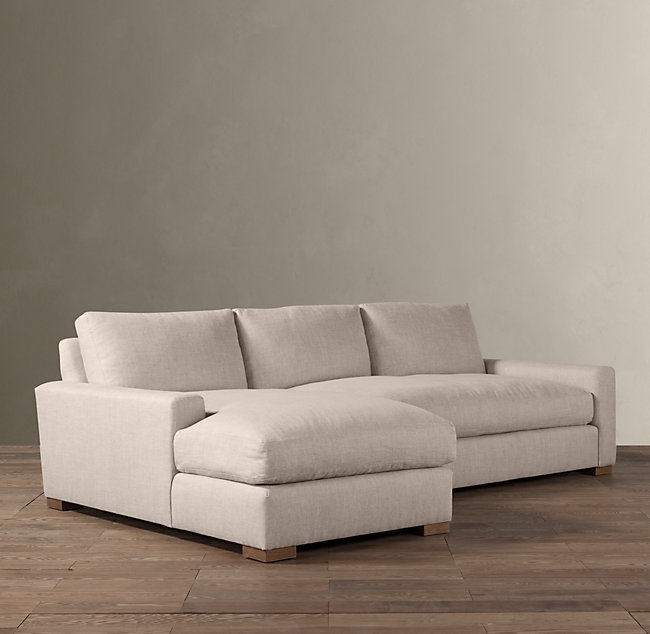 Maxwell Left Arm Sofa Chaise Sectional Regarding Restoration Inside Restoration Hardware Sectional Sofas (Image 4 of 10)