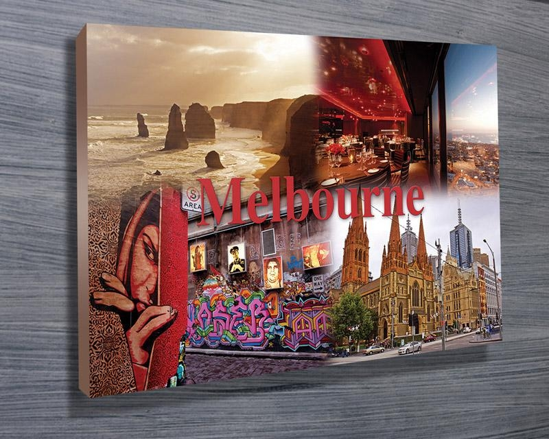 Melbourne City Wall Art Canvas Print Within Canvas Wall Art In Melbourne (Image 12 of 20)