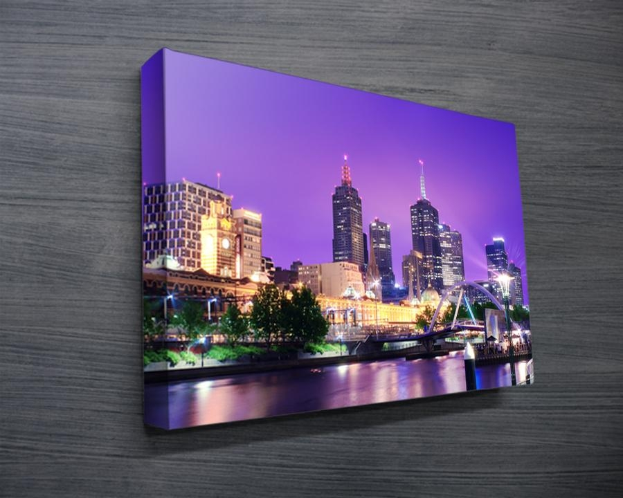 Melbourne Cityscape Canvas Print – Canvas Prints Australia With Canvas Wall Art In Melbourne (Image 16 of 20)