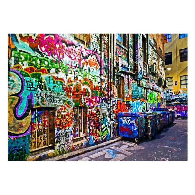 Melbourne Graffiti Laneway | Stretched Canvas/ Printed Panel | The Throughout Graffiti Canvas Wall Art (Image 13 of 20)