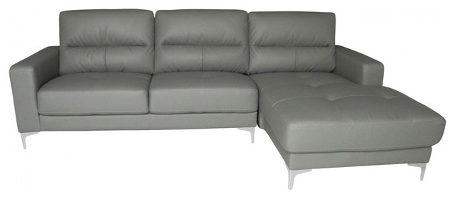 Memphis Bonded Leather Sectional, Right Chaise – Contemporary In Memphis Sectional Sofas (Image 3 of 10)