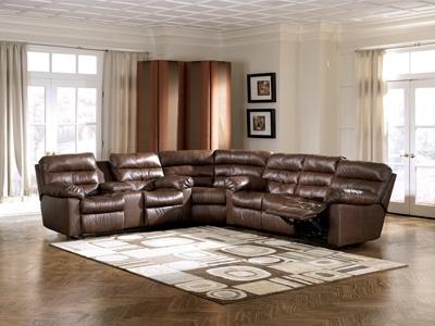 Memphis Brown 3 Piece Reclining Sectional Sofa | Sectionals In Memphis Sectional Sofas (Image 4 of 10)
