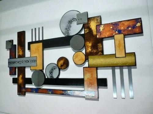 Metal Abstract Wall Art – Euprera2009 Throughout Abstract Geometric Metal Wall Art (Image 11 of 20)