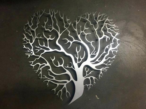 Metal Tree Wall Decor Details Heart Shaped Tree Metal Wall Art Inside India Abstract Metal Wall Art (Image 7 of 20)