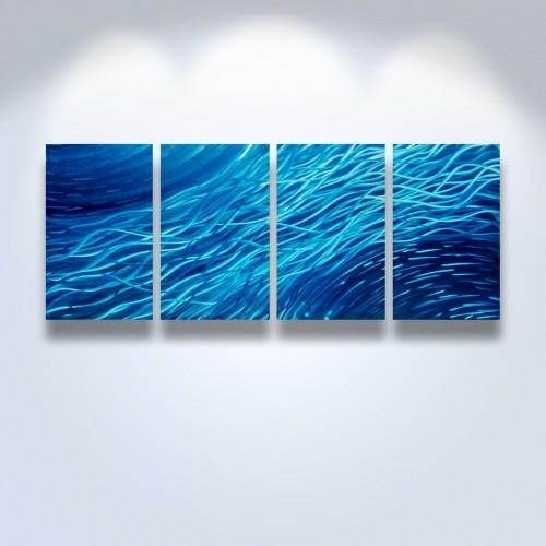 Metal Wall Art Abstract Contemporary Modern Sculpture Ocean Regarding Abstract Ocean Wall Art (Image 11 of 20)