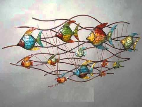 Metal Wall Décor Collection | Metal Metal Wall Art Ideas – Youtube Throughout Abstract Flower Metal Wall Art (Photo 15 of 20)