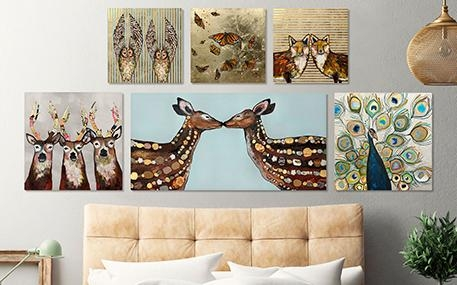Metallic & Embellished Canvas Wall Art | Greenbox Art With Embellished Canvas Wall Art (Image 12 of 20)