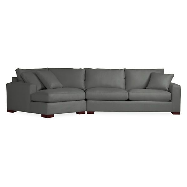Metro Sofa With Angled Chaise – Modern Sectionals – Modern Living Throughout Angled Chaise Sofas (Image 5 of 10)