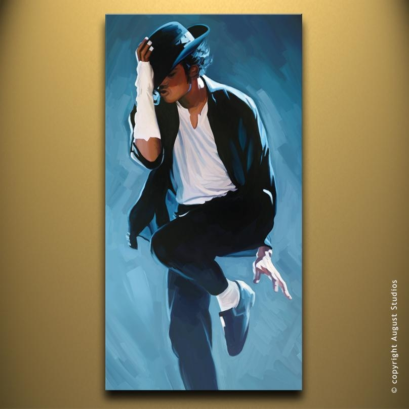 Michael Jackson Canvas Artwork | August Studios In Michael Jackson Canvas Wall Art (View 11 of 20)