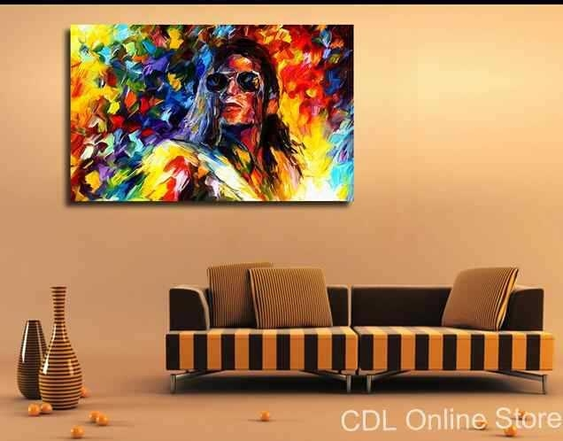 Michael Jackson Canvas Painting Modern Wall Art Home Decoration In Michael Jackson Canvas Wall Art (View 2 of 20)