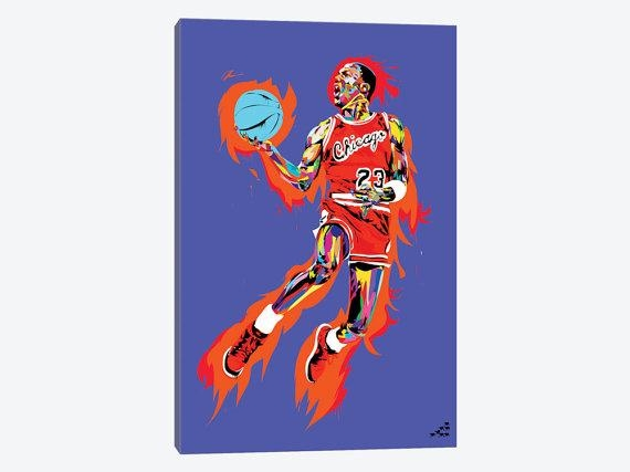Michael Jordan Art Print Michael Jordan Canvas Wall Art Mj With Regard To Michael Jordan Canvas Wall Art (Image 11 of 20)