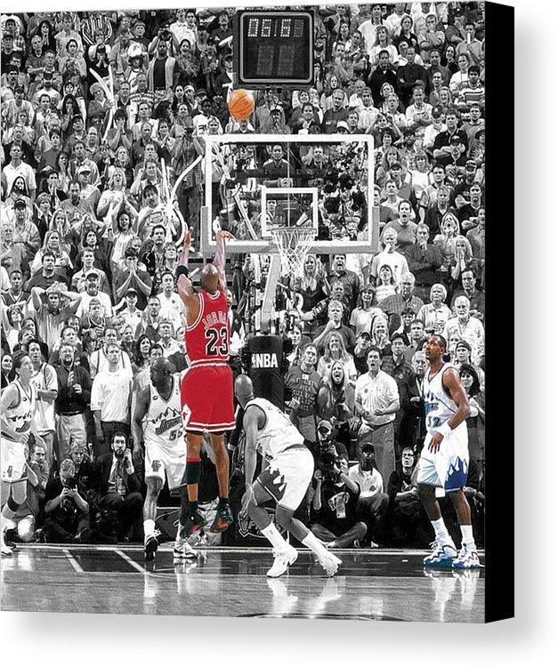 Michael Jordan Buzzer Beater Canvas Print / Canvas Artbrian Reaves Regarding Michael Jordan Canvas Wall Art (Image 12 of 20)
