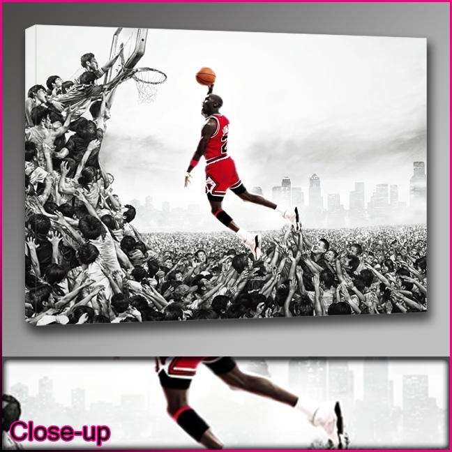 Michael Jordan Canvas Pictures  (Image 13 of 20)