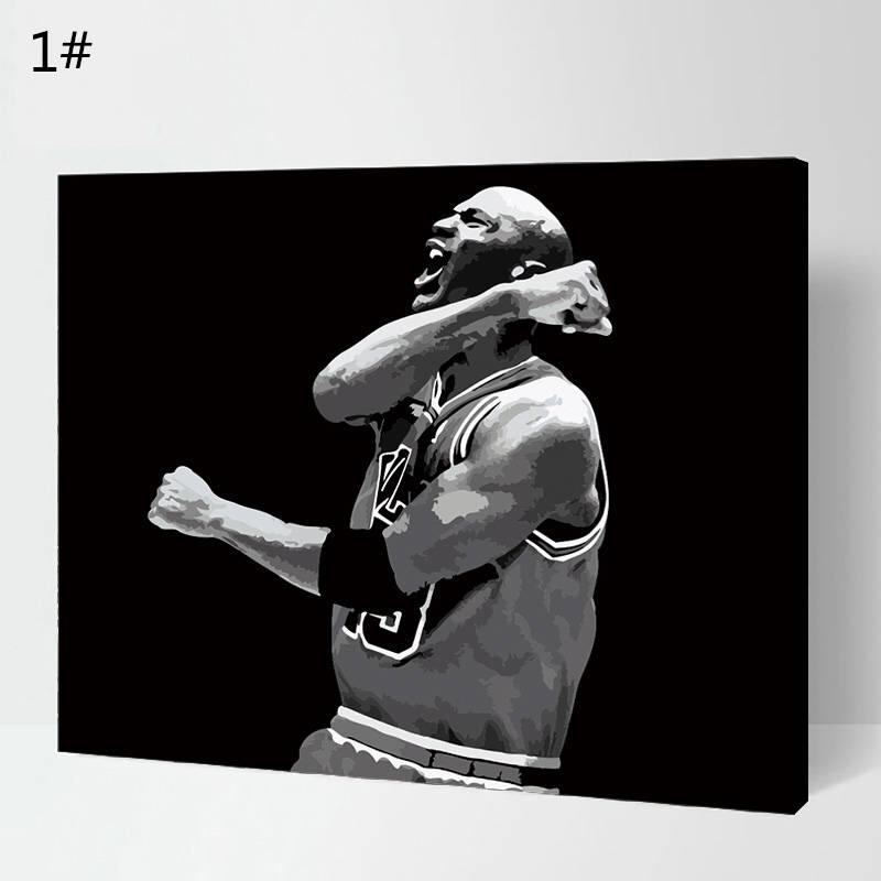 Michael Jordan Paintnumber Kit/ Michael Jordan Painting/wall With Regard To Michael Jordan Canvas Wall Art (Image 14 of 20)