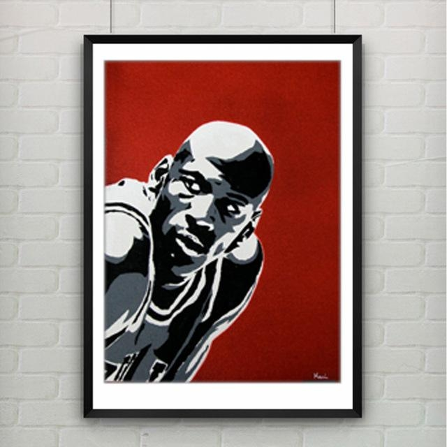 Michael Jordan Poster Canvas Painting Wall Picture Canvas Art Regarding Michael Jordan Canvas Wall Art (Image 15 of 20)