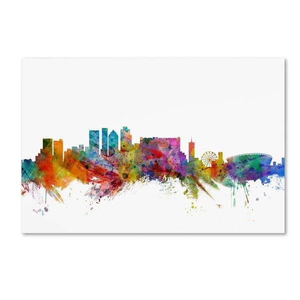 Michael Tompsett 'cape Town South Africa Skyline' Canvas Wall Art Within Cape Town Canvas Wall Art (Image 17 of 20)