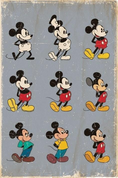 Mickey Mouse – Evolution Poster | Sold At Europosters Within Mickey Mouse Canvas Wall Art (View 20 of 20)